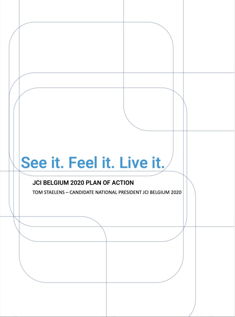 Beleidsplan JCI Belgium. See it, feel it, live it
